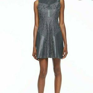 Ali Ro Womens Size 4 Metallic Fit and Flare Dress